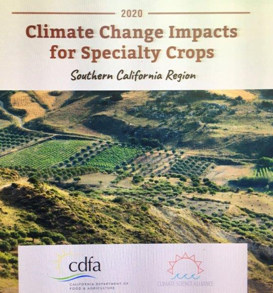 CDFA and Climate Science Alliance release 2020 Climate Change Consortium for Specialty Crops Reportto Draft